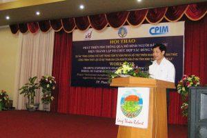 Hội thảo: Phát triển PIM thông qua mô hình người dân thực hiện thành lập tổ chức hợp tác dùng nước
